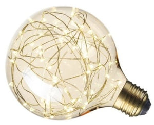 Calex 1.5W Gold LED Globe Lamp G125 ES Very Warm White (5W Alternative)