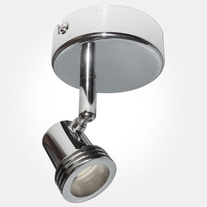 Eterna IP20 Polished Chrome Single Unswitched Spotlight (1x50W Max GU10 Lamp Required)