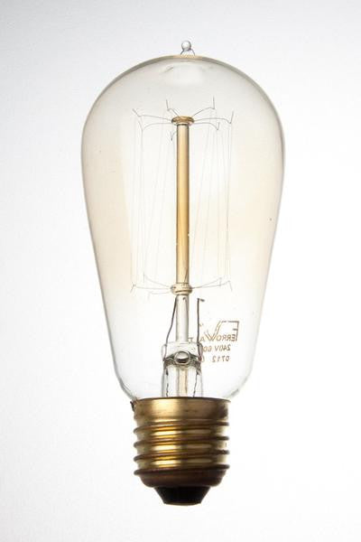 F1910N-ES - 240v 60w E27 Ferrowatt Antique Lamp Cage