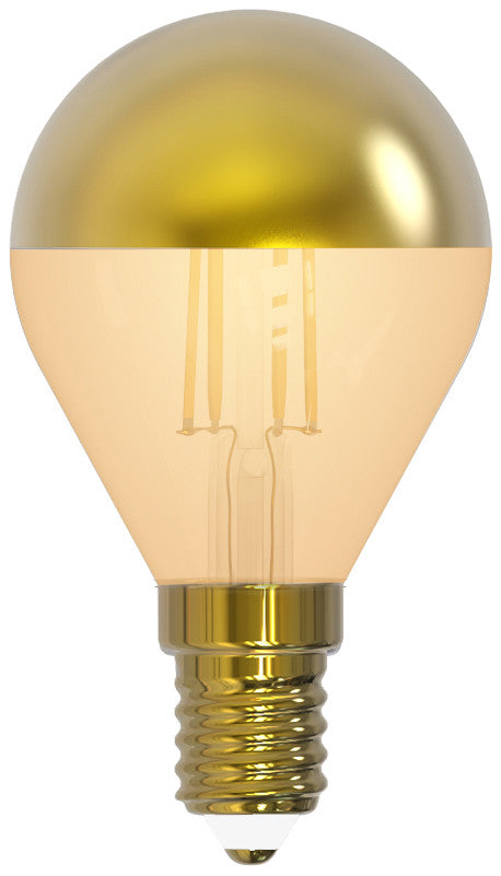 "Girard Sudron 15652 - Golfball G45 Filament LED ""Golden Cap"" 4W E14 2700K 350Lm Dim. amber glass"