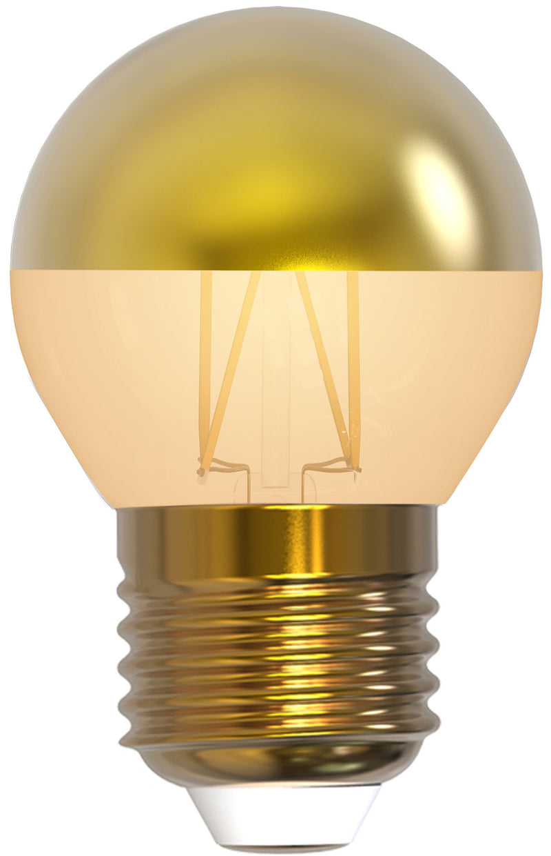 "Girard Sudron 15653 - Golfball G45 Filament LED ""Golden Cap"" 4W E27 2700K 350Lm Dim. amber glass"