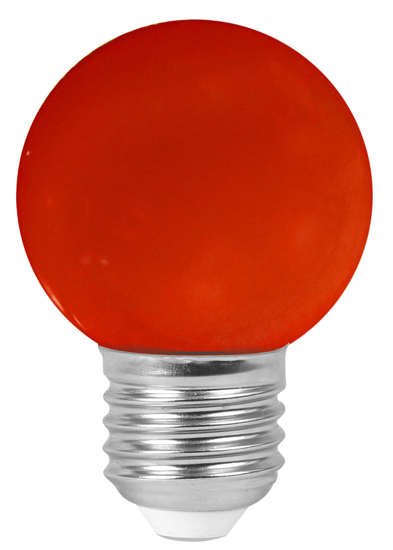 160136 - Golfball LED 1W E27 30Lm Red