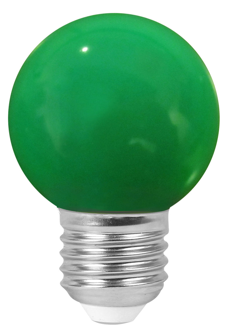 160139 - Golfball LED 1W E27 30Lm Green