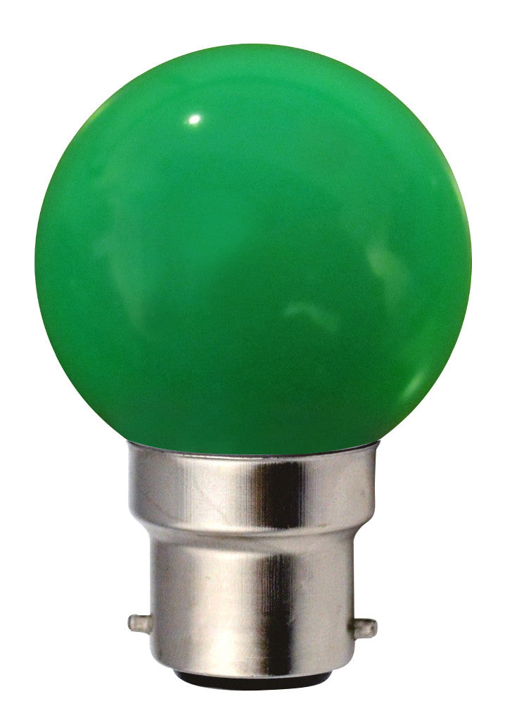 160143 - Golfball LED 1W B22 30Lm Green