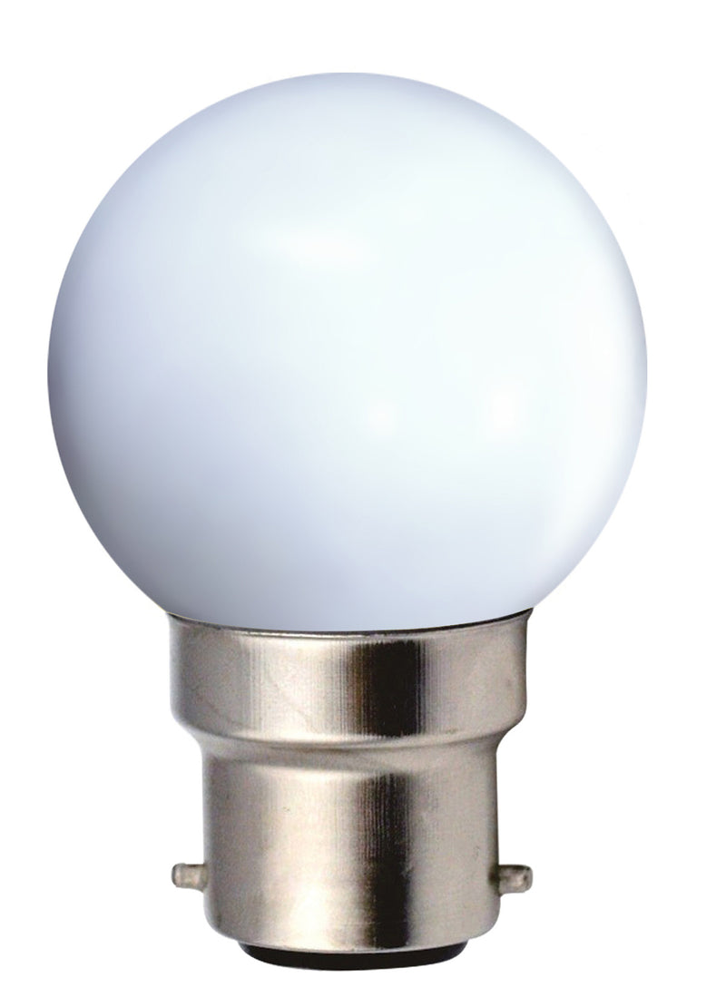 162041 - Golfball LED 1W B22 4000K 80Lm White