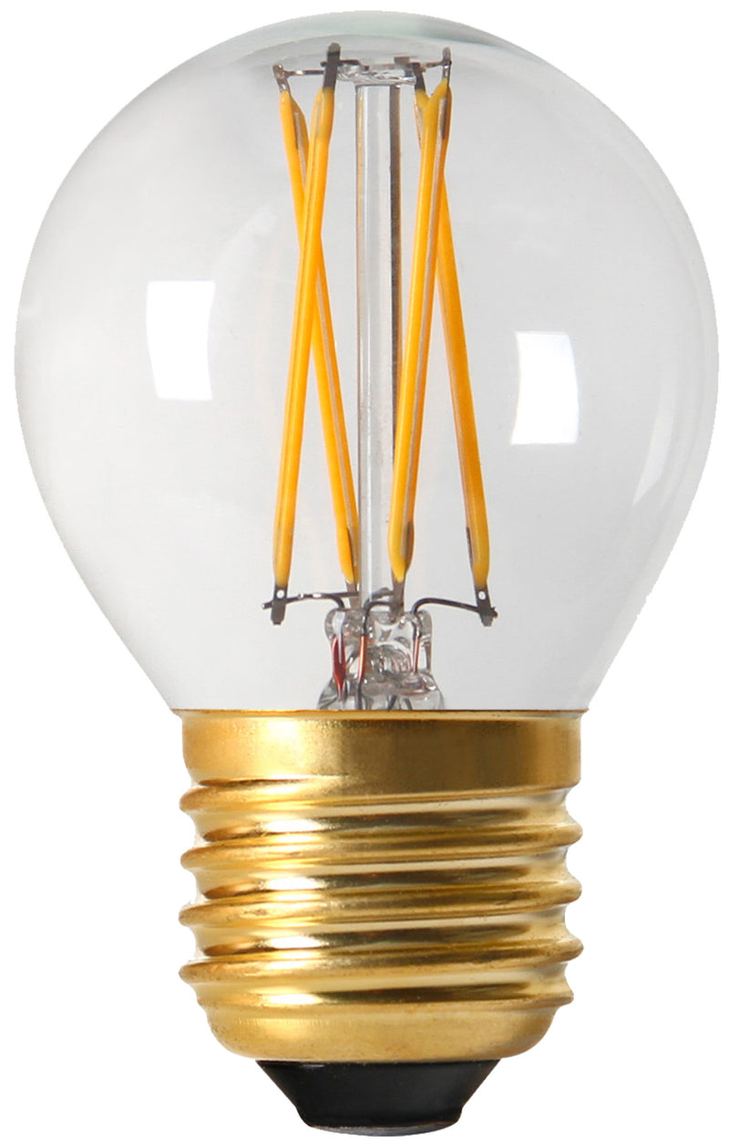 28648 - Golfball G45 Filament LED 4W E27 2700K 350Lm Dim. Cl