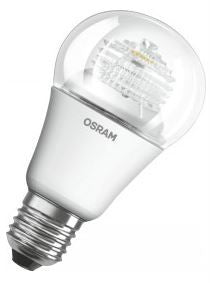 936856 - OSRAM LED GLS 240v 8=60w 2700K WarmWhite E27 CLEAR NON DIMMABLE