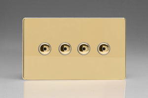 Varilight IJDVI104S - 4-Gang 1-Way Remote/Touch Control Master LED Dimmer 4 x 0-100W (1-10 LEDs) (Twin Plate)