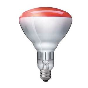 IR240250E-7-GE - 240v 250w E27 Ruby Hard Glass R125