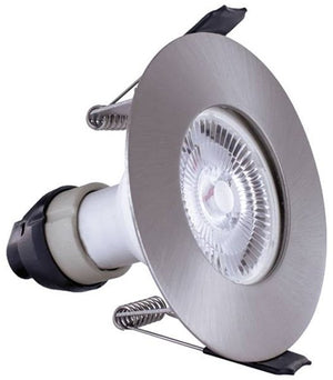Integral Satin Evofire Fire Rated LED Downlight IP65 With GU10 Lampholder