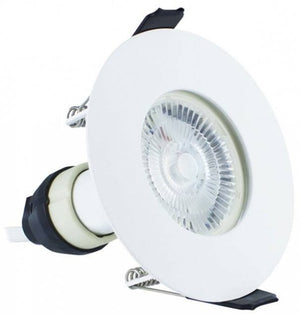Integral White Evofire Fire Rated LED Downlight IP65 With GU10 Lampholder