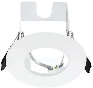 Integral White Evofire Fire Rated LED Downlight IP65 With GU10 Lampholder & Insulation Guard