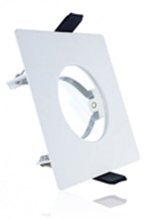 Integral White Evofire Fire Rated Square LED Downlight IP65 With GU10 Lampholder