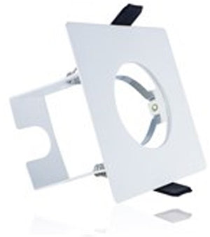 Integral White Evofire Fire Rated Square LED Downlight IP65 With GU10 Lampholder & Insulation Guard