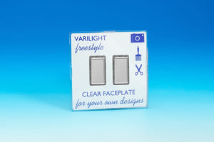 Varilight JIFES002C - 2-Gang Tactile Touch Control Dimming Slave for use with Multi-Point (formerly Eclique2) Master on 2-Way Circuits