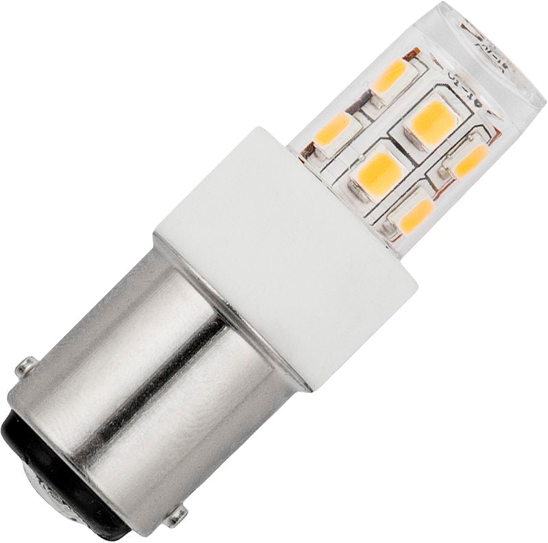 Schiefer L024372427 - LED BA15D Tube T17x47mm 10-30V AC/DC 140Lm 2W 827 Clear Non-Dim