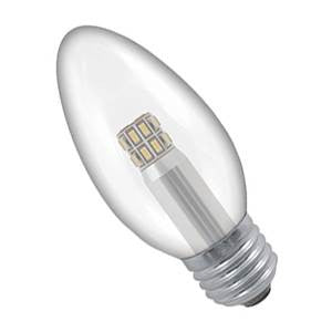 CL3ES-83-CR - 240v 3w E27 Plain Clear 35mm LED Candle