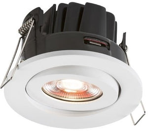 LED 230 Volt IP20 8 Watt Fire-Rated Valknight Downlight (Warm White)