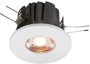 LED 230 Volt IP65 8 Watt Fire-Rated Valknight Downlight (Warm White)