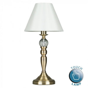 MiniSun Sofia Antique Brass Touch Table Lamp