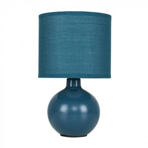 Minisun Small Ceramic Table Lamp in Navy Blue