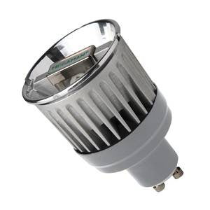 P16L7-CW-ME - 240v 7W LED GU10 51mm Flood 4000k CW