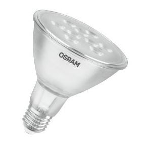 955028 - OSRAM LED PAR38 240v 11=80w 30 DEGREE 2700K E27 NON-DIMMABLE