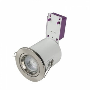 Robus Starling 50W IP20 GU10 Fire Rated Steel Downlight Brushed Chrome (Lamp Not Included)