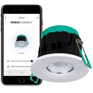 Robus Ultimum Connect 7W IP65 Wifi Tunable Fire Rated White LED Downlight
