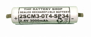 TBS 2SCM3-0T4-SP34 2.4v 3.0Ah Ni-Mh Battery Pack (Tridonic 89899755)