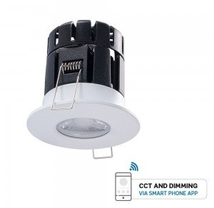 V-Tac 10W IP65 Dimmable Bluetooth Fire Rated Downlight CCT