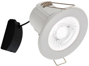 V-Tac 5W IP65 Fire Rated White Dimmable LED Down Light with Antiglare Lens + Samsung Chip in Warm White (5Yr Warranty) VT-885