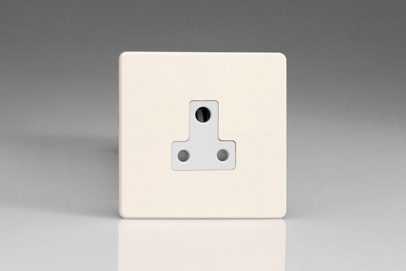 Varilight XDYRP5AWS.PD - 1-Gang 5A Round Pin Socket