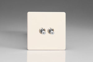 Varilight XDYT2S.PD - 2-Gang 10A 1- or 2-Way Toggle Switch