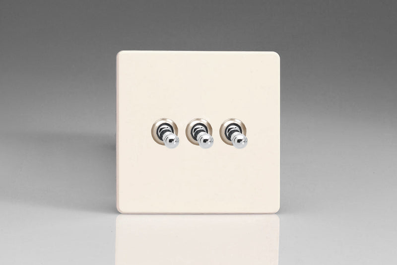 Varilight XDYT3S.PD - 3-Gang 10A 1- or 2-Way Toggle Switch