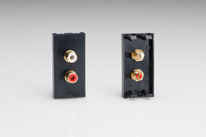 Varilight Z2GPH2B - Double Phono (RCA) Socket, Female (1 DataGrid Space)
