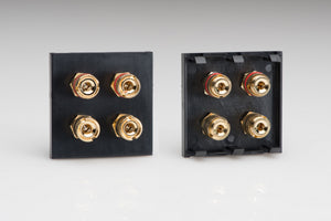 Varilight Z2GSP4B - Speaker Module (4 gold plated banana or cable binding posts) (2 DataGrid Space)