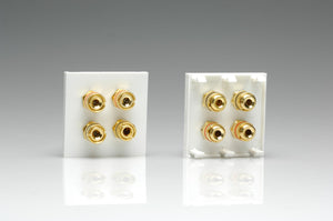 Varilight Z2GSP4W - Speaker Module (4 gold plated banana or cable binding posts) (2 DataGrid Space)