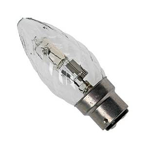 C28BC-TH - 240v 28w Ba22d 35mm Clear Twisted