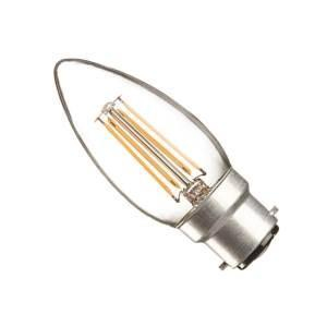 Casell Filament LED Candle 240v 4w B22D 440lm 2700°k Dimmable - 0635635589080