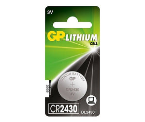 GP CR2430 3v lithium coin cell battery.