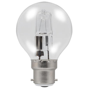 Casell GB42BC-H-CA - Golf Ball 42w Ba22d/BC 240v Clear Energy Saving Halogen Light Bulb