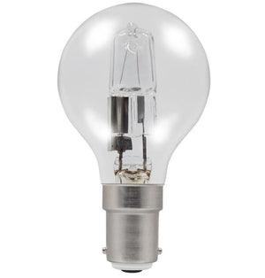 Casell GB42SBC-H-CA - Golf Ball 42w Ba15d/SBC 240v Clear Energy Saving Halogen Light Bulb