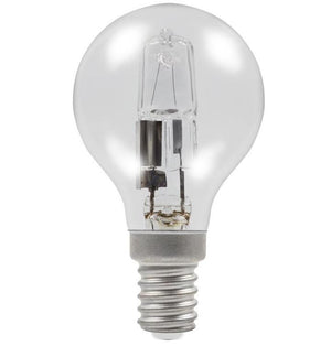 Golf Ball 28w E14/SES 240v Clear Energy Saving Halogen Light Bulb - 0635635603595