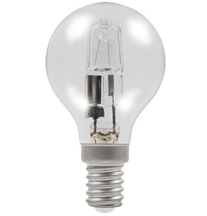 Casell GB28SES-H-CA - Golf Ball 28w E14/SES 240v Clear Energy Saving Halogen Light Bulb