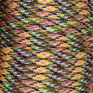 01032 Round Braided Flex 3 core 0.75mm Multi-Coloured, mtr - Lampfix - Sparks Warehouse