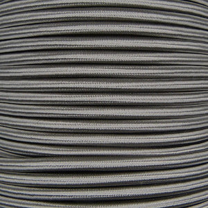 01003 Round Braided Flex 3 core 0.75mm Elephant Grey, mtr - Lampfix - Sparks Warehouse