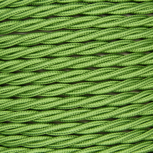01011 Triple Twisted Braided Flex 3 core 0.75mm Cyprus Green, mtr - Lampfix - Sparks Warehouse