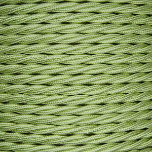 01025 T-T Braided Flex 3 core 0.5mm Tisane, mtr - Lampfix - Sparks Warehouse