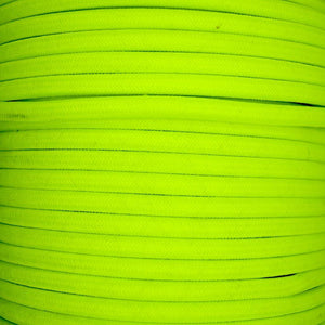 01030 Round Braided Flex 3 core 0.75mm Fluorescent Yellow, mtr - Lampfix - Sparks Warehouse